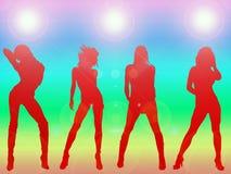 Dança 'sexy' das meninas Fotos de Stock