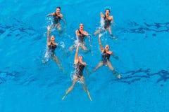 Dança sincronizada das mulheres seis Foto de Stock Royalty Free