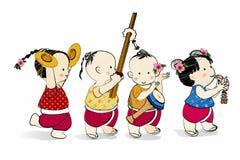 Dança tailandesa Fotografia de Stock