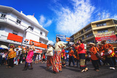 Dança tailandesa, Chak Phra Festival fotos de stock