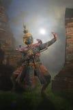 Dança tailandesa tradicional do drama da máscara de Khon Imagens de Stock
