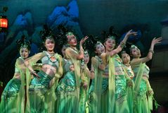 Dança tradicional chinesa Fotos de Stock Royalty Free