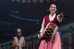 Dança tradicional coreana Fotografia de Stock