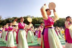 Dança tradicional de Coreia Fotografia de Stock