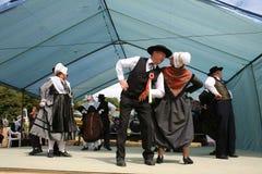 Dança tradicional do folclore, correze imagem de stock