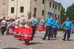 Dança tradicional do russo Imagem de Stock Royalty Free