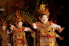 Dança tradicional Legong e Barong do Balinese fotografia de stock royalty free
