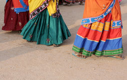 Dança tribal das mulheres indianas do lamabada foto de stock royalty free