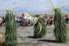 Dança tribal tradicional no festival da máscara Fotografia de Stock