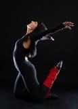 Dançarino à moda fotografia de stock