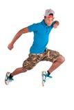 Dançarino africano do breakdance do dançarino imagens de stock royalty free