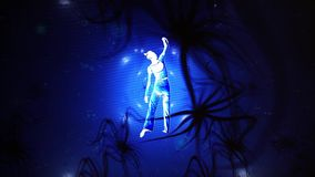 Dançarino artístico Into Graphic Animation de video estoque