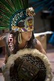 Dançarino asteca - St Los Angeles de Olvera Fotos de Stock