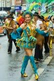 Dançarino boliviano tradicional imagem de stock