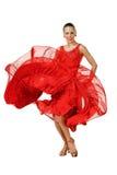 Dançarino bonito do Latino na ação foto de stock royalty free