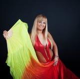 Dançarino bonito no circo fotografia de stock royalty free