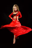 Dançarino bonito no traje oriental. Fotos de Stock Royalty Free