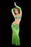 Dançarino bonito no traje oriental. Imagem de Stock