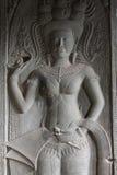Dançarino celestial em Angkor Wat fotografia de stock royalty free