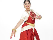 Dançarino clássico de india Fotografia de Stock