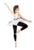 Dançarino clássico do ballett no ponto Fotos de Stock Royalty Free