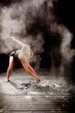 Dançarino contemporay do pó foto de stock