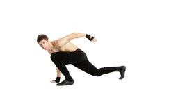 Dançarino da acrobata sobre o branco Imagens de Stock Royalty Free