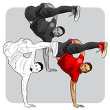 Dançarino da arte da rua Imagens de Stock Royalty Free