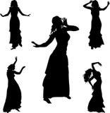 Dançarino da dança do ventre Imagem de Stock Royalty Free