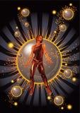 Dançarino da estrela ilustração stock