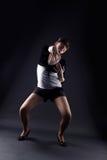 Dançarino da mulher de encontro Fotografia de Stock Royalty Free