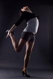 Dançarino da mulher de RnB fotos de stock