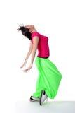 Dançarino da mulher do lúpulo do quadril imagem de stock