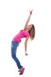 Dançarino da mulher no vestuário do lúpulo do quadril fotos de stock