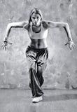 Dançarino da mulher nova Foto de Stock