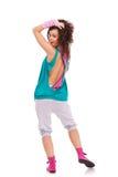 Dançarino da mulher que olha a câmera imagens de stock