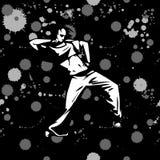 Dançarino da rua da menina no fundo do grunge Foto de Stock Royalty Free