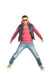 Dançarino da ruptura no ar Fotografia de Stock