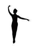 Dançarino da silhueta Fotos de Stock Royalty Free