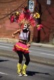 Dançarino da sociedade do festival de MassKara, parada da festa de Pinoy Imagem de Stock Royalty Free