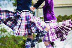 Dançarino das montanhas em jogos das montanhas em scotland fotografia de stock
