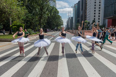 Dançarino de bailado da rua foto de stock royalty free