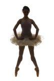 Dançarino de bailado da silhueta Fotografia de Stock Royalty Free