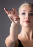 Dançarino de bailado fêmea Imagens de Stock