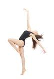 Dançarino de bailado moderno da mulher do estilo contemporâneo Fotografia de Stock Royalty Free