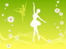 Dançarino de bailado na mola Ilustração Stock