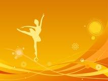 Dançarino de bailado no sumário Ilustração do Vetor