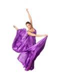 Dançarino de bailado no vestido do vôo Fotografia de Stock Royalty Free
