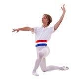 Dançarino de bailado que knealing fotos de stock royalty free