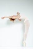 Dançarino de bailado. Trem no estúdio. fotos de stock royalty free